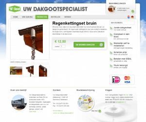 Bestel uw regenketting online via de webshop van Uw Dakgootspecialist!